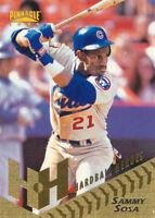 Sammy Sosa 1996 Pinnacle #263 Chicago Cubs baseball card