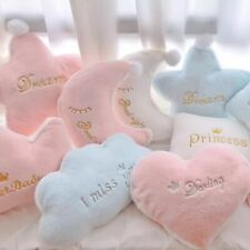 Heart Plush Moon Star Pillow Soft Stuffed Cloud Crown Sofa Decor Cushion Sleep