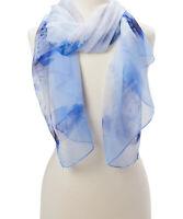 Girls Blue Abstract Soft Scarf Beautiful Shawl Stole Women Viscose Wraps Scarfs