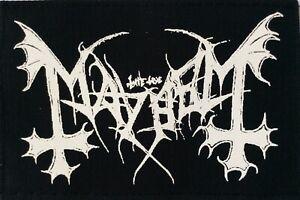 MAYHEM (09) patch black metal satan death