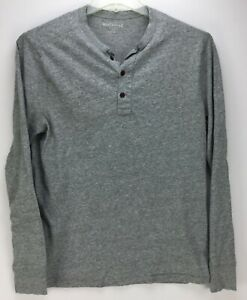 Mens J.Crew Henley Shirt Large Long Sleeve