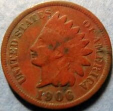 *1906  INDIAN  HEAD  BRONZE  PENNY, Nice Details Philadelphia Mint Coin  #3
