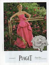 Publicité Advertising 2012 PIAGET Rose collection montre bague collier