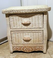 Pier 1 Imports One Wicker White Nightstand Cottage Jamaica Rattan Bedside Table