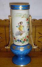 """Antique Old Paris Porcelain Vase w/ Hand Painted Child - 12 1/2"""""""