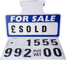 5 x For Sale Sign Board, Car Price/Pricing Sun Visor, Vehicle/Auto Price Unit