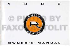 1988 Buick Reatta Owners Manual NEW OEM 88 Owner User Guide Book