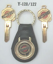 Vintage Chrysler Wax Seal Yellow Gold Plated Key Set Key Ring 1944 1945 1946