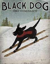 DOG ART PRINT Black Dog Ski Co. Ryan Fowler 22x28