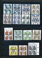 Berlin SWK VB, kompletter Viererblocksatz 15 Werte gestempelt  MI: 330.- #h773