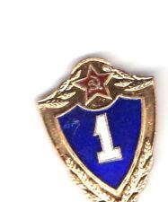 Soviet Union Original Red Star Number 1 Badge with Blue surround pre 1991