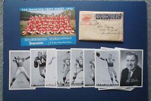 1955 San Francisco 49ers team photo & 37 player & coach team cards VG+ Cond