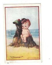 Flora White Postcard Chums Scottie Dog & Scottish Baby 1918