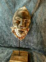 Tribal African DAN Tribal Mask Wood Carved Hand Vintage Art Face 1120