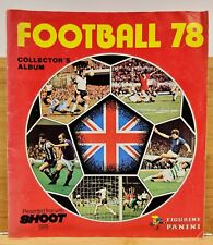 Football 78 Sticker Album by Panini/Shoot-English First Division-Mostly Complete
