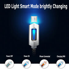 Smart LED Light-up Flash Charging Cable Braided 2.4 A Quick Charger Sync Cord