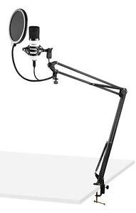 VONYX CMS300W USB Pro Podcast Set Studiomikrofon Großmembran Kondensatormikrofon