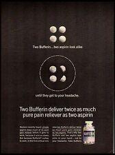 1964 Bufferin Aspirin Vintage Print Ad