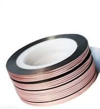 Rose Gold Nail Art Striping Tape Line Strips Nails Decoration Stickers 3mm