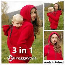 3in1 Tragejacke für Tragetuch Tragepullover Umstandsjacke Froggy Style Größe S