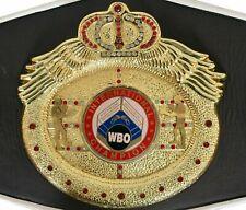 WBO WORLD Boxing Champion Ship boxing Belt Adult size Replica Black