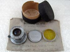 FED f3,5/50mm Vintage USSR Soviet M39 Lens copy Elmar to 35mm RF Zorki Leica Mir