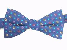 $115 COUNTESS MARA Men`s BLUE RED GREEN FLORAL BOW TIE CLASSIC ADJUSTABLE BOWTIE