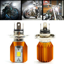 H4 COB LED Moto 6W Hi/Lo Beam Headlight Lampe Phare Ampoule 12V 1200LM Pr Harley