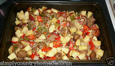 ITALIAN SAUSAGE & RED POTATO BAKE RECIPE~Homemade~Tried & True~FREE SHIP