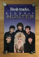 """Blondie 1982 """"The Hunter� Poster - Original, Vintage From Chrysalis Records"""