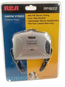 RCA AM/FM Stereo Cassette Player with Headphones RP1822 New Factory Sealed!