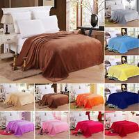 Warm Throw Super Soft Plush Velvet Blankets Sofa Home Bed Fleece Twin Queen King