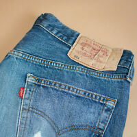 Vintage Levi 501 Jeans Blue Straight Button Fly Unisex (PatchW36L36) W 34 L 31