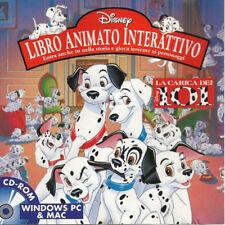 DISNEY 101 DALMATIONS LIBRO ANIMATO INTERATTIVO Italian CD - ROM Windows PC &Mac