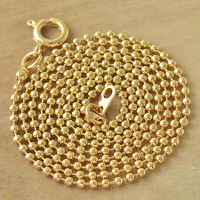 Fashion jewellery 18K Gold Plated Beaded Womens Chain Necklace 20 Inch  lot