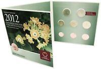 Österreich 2012 KMS 1 Cent bis 2 Euro Kleinmünzensatz handgehoben im Folder