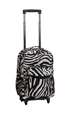 "Deluxe Wheel Backpack Rolling 17"" Carry on Travel Luggage Travel Bag School"