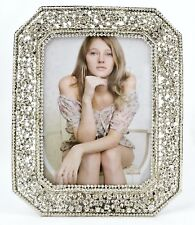 Decorative Veronica Picture Frame Made by Hand with Clear Swarovski Crystals