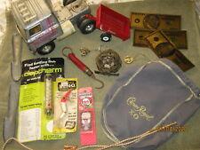 Vintage Other Junk Drawer Lot/Foil Bills/Vintage Fishing/Etc