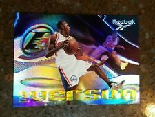 1997 Reebok Allen Iverson Rainbow-The Answer Shoe Promo Insert Card! Question RC