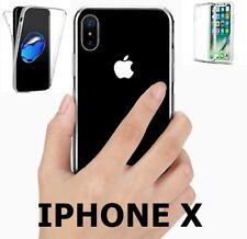 Coque Housse double Transparent 360º Avant Arrière iPhone X
