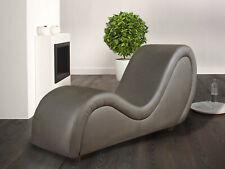 Sex Sofa, grau Kunstleder, Tantra Liege, Design Möbel, Erotik Couch Kamasutra