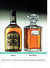 Publicité Advertising 068  1995   whisky  Chivas 12 ans d'age