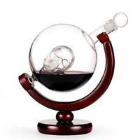 Whiskey Decanter SET 800ml Liquor Scotch Wine /Globe World Glasses Stone Gift