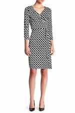NWT Diane von Furstenberg New Julian Two Chain Link Medium Wrap Dress 14 $398