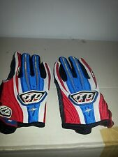 Troy Lee Designs Racing Glove Speed Equipment red white and blue S