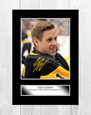 More details for casey desmith pittsburgh penguins nhl signed a4 poster choice of frame