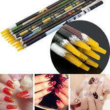 Gem Crystal Rhinestone Picker Pencil Nail Art Craft Tool Self Adhesive Wax Pen