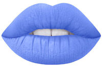 LIME CRIME VELVETINES TEACUP BLACK LIGHT REACTIVE PERIWINKLE LIPSTICK COSMETICS