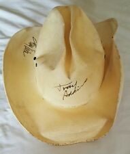 AUTOGRAPHED AUTHENTIC TOBY KEITH TRACE ADKINS SIGNED COWBOY HAT
